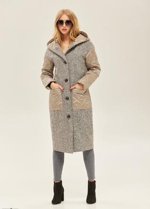 Новинка! пальто женское демисезонное с капюшоном