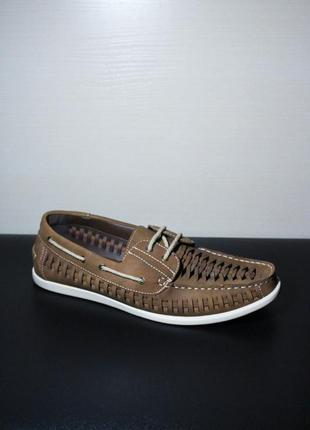 Оригинал kenji malone pu boat shoe лоферы тапочки туфли на лет...