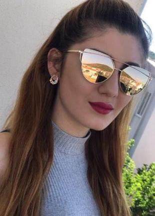 Солнцезащитные очки, окуляри,лисичка в металической оправе хам...