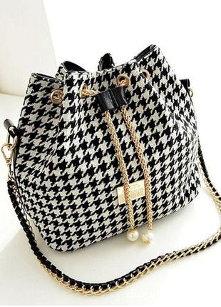 Сумка мешок, рюкзак с кисточками, с бахромой, черный