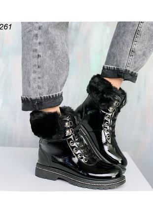 Ботинки женские зимние с меховой отделкой 52161