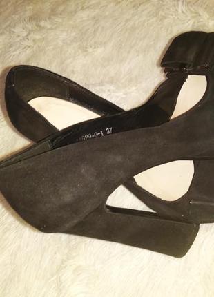 Туфли stoalos, натуральный замш 37
