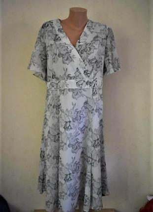 Новое красивое шифоновое платье большого размера