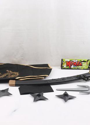 Набор оружия NINJA ZPN60-11 (120шт/2) сюрикены, кинжал, меч, в па