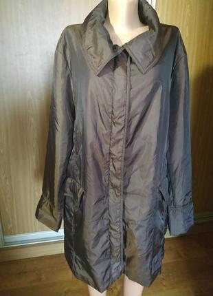 Суперское пальто/куртка на тонком синтепоне,батального размера