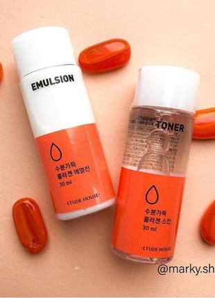 Etude House Moistfull Collagen Facial- тонер и эмульсия