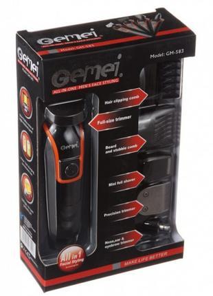 Беспроводная Машинка для стрижки волос GEMEI GM-583 + Триммер