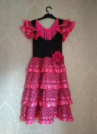 Платье цыганки,кармен, испанское платье, карнавальный костюм ц...