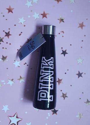 Металлическая бутылка  pink victoria's secret