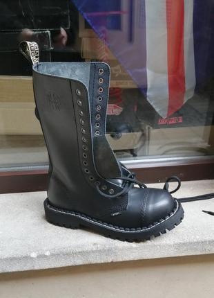 Высокие ботинки берцы сапоги steel стилы готы панки рок обувь
