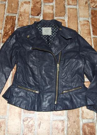 Куртка кожаная косуха девочке 6 - 7 лет matalan