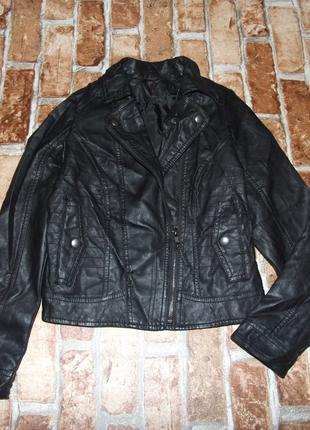 Куртка кожаная косуха девочке 9 - 10 лет george