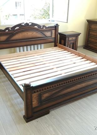 Кровать з дуба масив