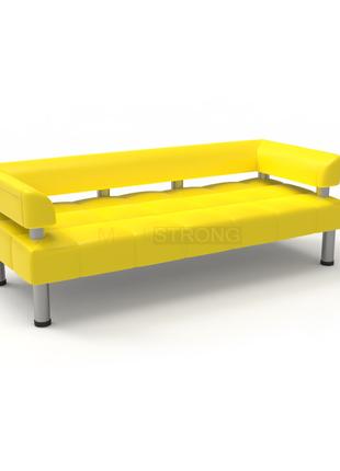 Офисный диван Стронг - желтый матовый кож.зам