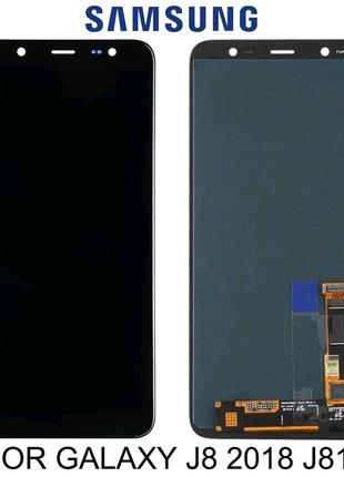 Дисплей для Samsung Galaxy J8 2018 J810F Черный с сенсором
