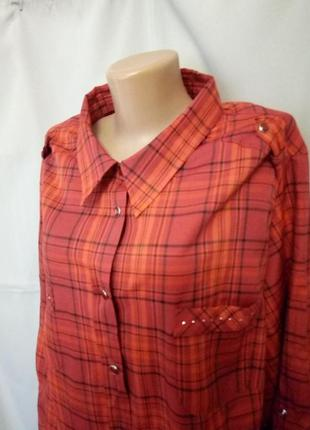 Стильная рубашка, блузка, большой размер, батал,  №6bp