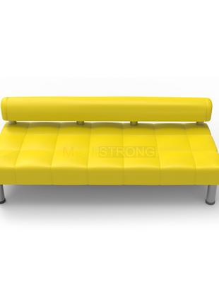 Офисный диван Стронг без подлокотников - желтый цвет