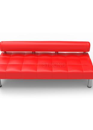 Офисный диван без подлокотников Стронг - коралового цвета