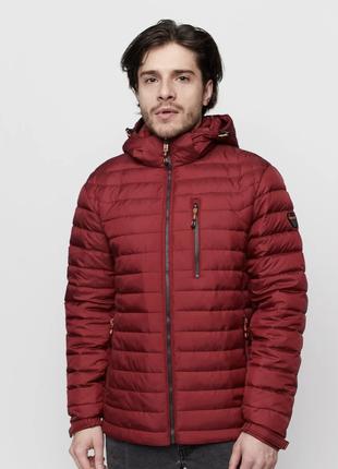 Демисезонная терракотовая мужская куртка vavalon на био-пухе (...