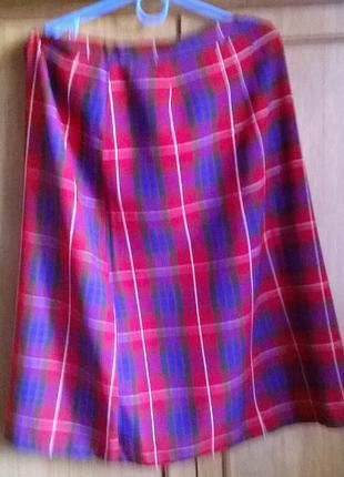 Полушерстяная юбка