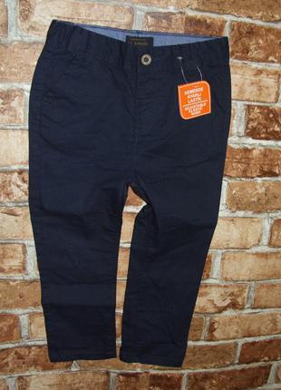 Новые стильные котон чиносы брюки штаны мальчику 2 - 3 года waiki