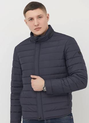 Демисезонная синяя мужская куртка vavalon на био-пухе (48-58рр)