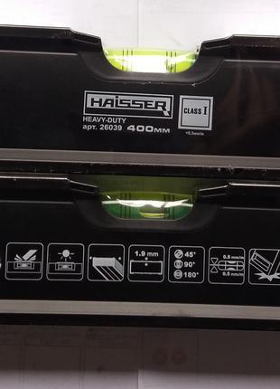 Уровень спиртовой Haisser Heavy Duty 26039 400мм