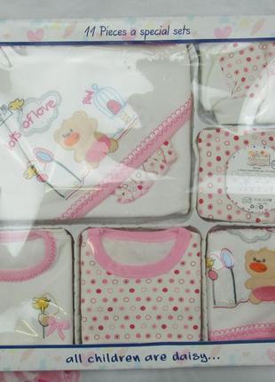Подарочный наборчик из 11 предметов для новорожденного 0-3 мес