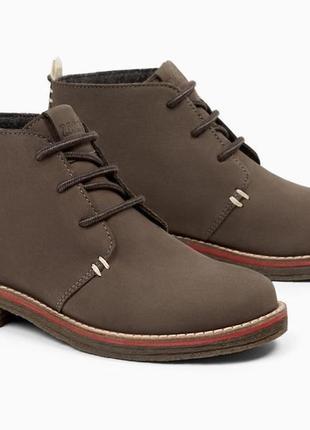 Кожаные ботинки zara. размеры 35, 36, 37