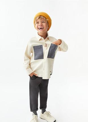 Детская рубашка zara. размер 9 и 10 лет
