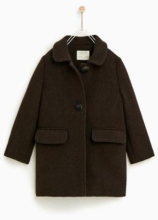 Детское шерстяное пальто zara