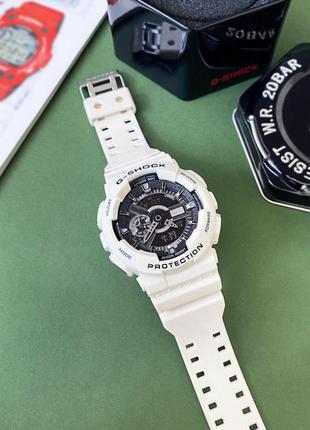 Часы наручные спортивные casio g-shock ga-110 white