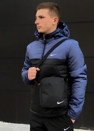 Анорак утеплёный сине-черный nike