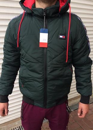 Новая мужская зимняя куртка tommy hilfiger.