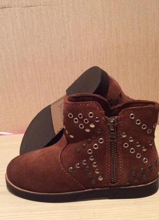 Ботиночки zara для маленькой модницы. размер 24