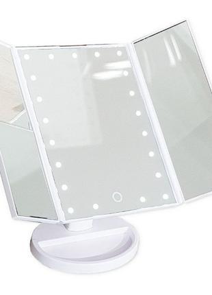 Зеркало с подсветкой для макияжа косметическое зеркало с подсв...