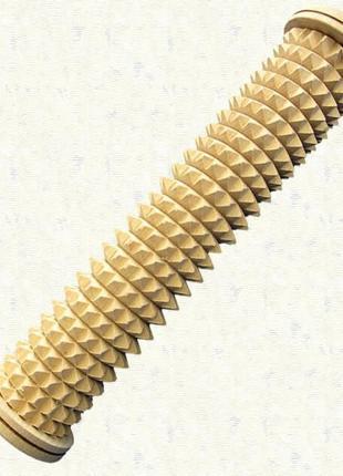Массажер мануфактура деревянный игольчатый для ног моно ролик