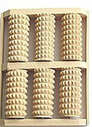 Массажер для ног деревянный счеты зубчатые из колючей березы