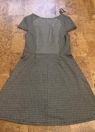1+1=4 платье трапеция орнамент геометрия с коротким рукавом