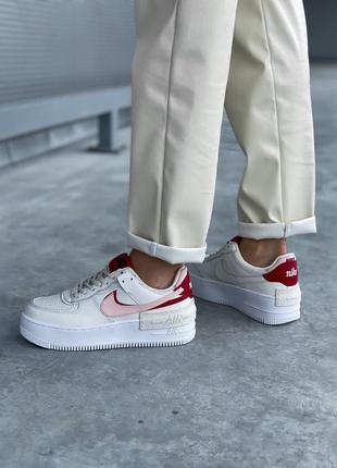 Кроссовки Nike Air Force 1 White Red