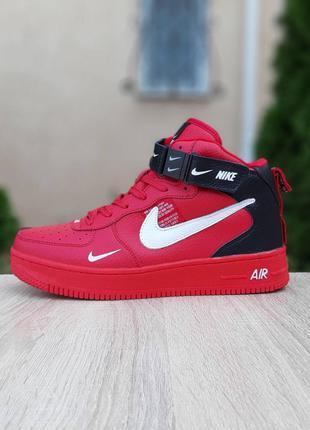 Утепленные женские Кроссовки Ботинки Nike Air Force 1 Mid (37-41)