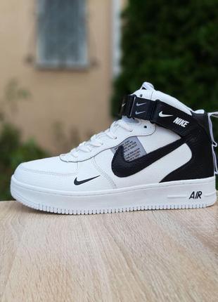 Зимние Мужские Кроссовки Ботинки Nike Air Force 1 Mid LV8 (41-46)