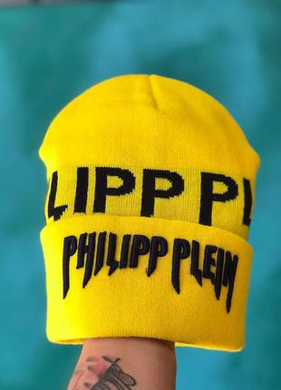 Мужская/ женская шапка осень philipp plein