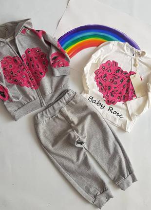 Спортивний комплект 3ка девочка / комплект baby rose