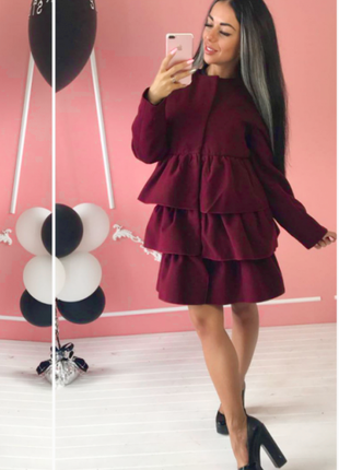 Модное женское пальто весна 2021 с рюшами пальто с воланами