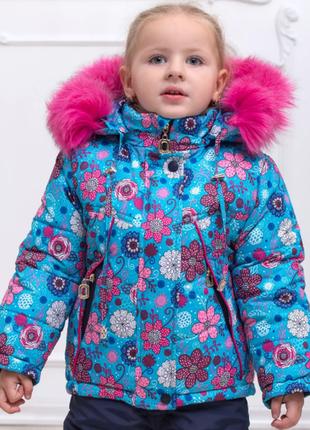 Детская зимняя куртка на синтепоне и флисе