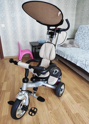 Детский трехколесный велосипед KRAFT бежевый
