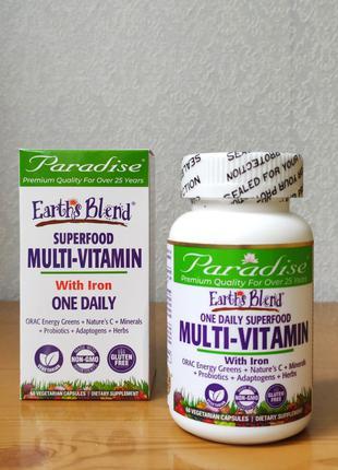 Витамины для мужчин, женщин, Раз в день. Paradise Herbs, 60 капс.