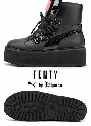 "Новинка puma x fenty by rihanna sneaker boot ""black"" пума фент..."