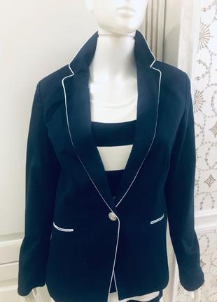 Синий пиджак/жакет в морском стиле oodji